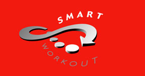 smart workout logo red